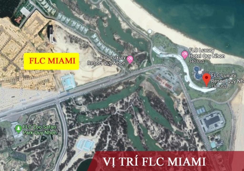 Vị trí dự án FLC Miami District Quy Nhơn