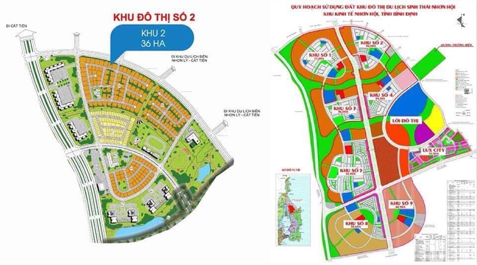 Quy hoạch khu đô thị đất nền phân khu 2 Nhơn Hội