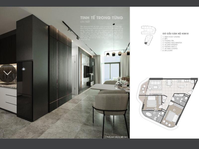 thiết kế căn hộ the aston