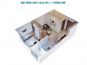 Bán căn hộ 1 phòng ngủ chung cư Ecolife Quy Nhơn